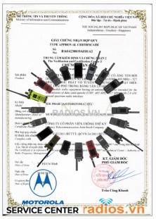 Công bố hợp quy máy bộ đàm motorola gọi 0904535797