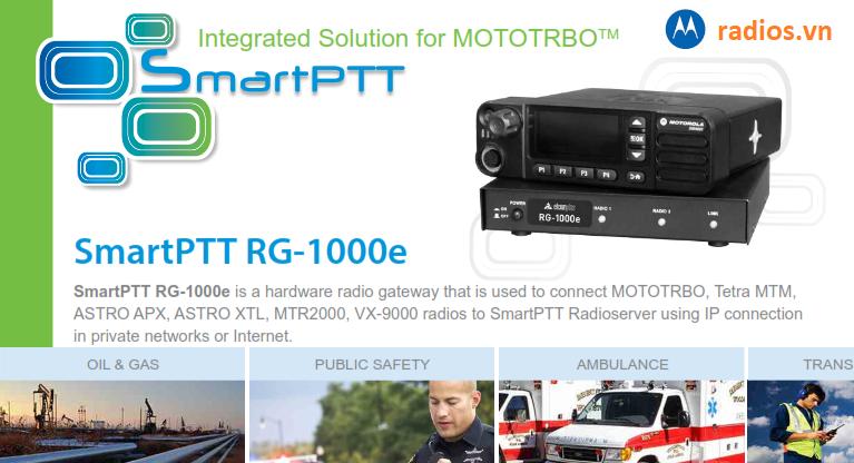 ứng dụng thiết bị tích hợp chuyển đổi tín hiệu gateway Smartptt RG-1000E trong hệ thống bộ đàm Motorola