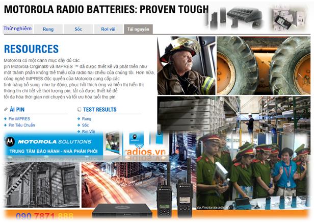Sản phẩm phụ kiện máy bộ đàm Motorola chính hãng được thử nghiệm nghiêm ngặt