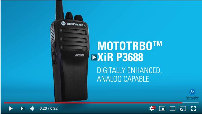 Video máy bộ đàm Motorola XiR P3688