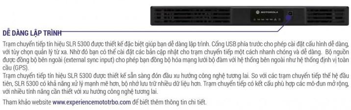 SLR5300 UHF VHF 50W Trạm lặp dễ lập trình và cấu hình nhất thị trường cho người dùng