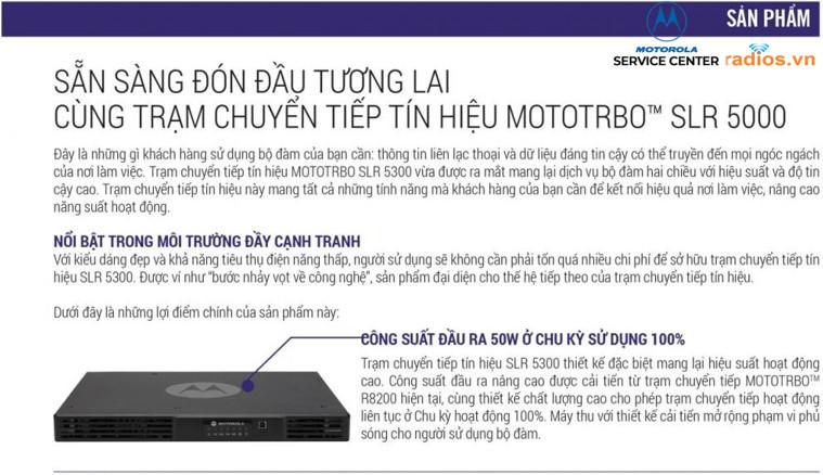 Chuyển tiếp kỹ thuật số Motorola mototrbo slr5300