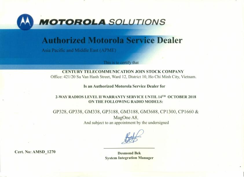 Motorola trung tâm bảo hành tại việt nam