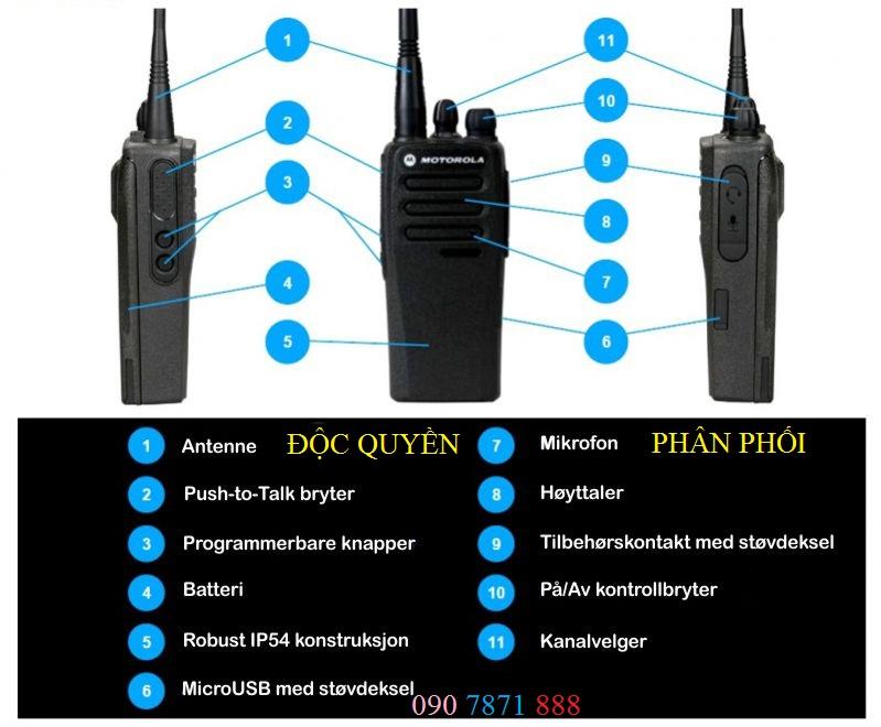 Hướng dẫn sử dụng chưng năng một số cấu trúc Motorola XiR P3688
