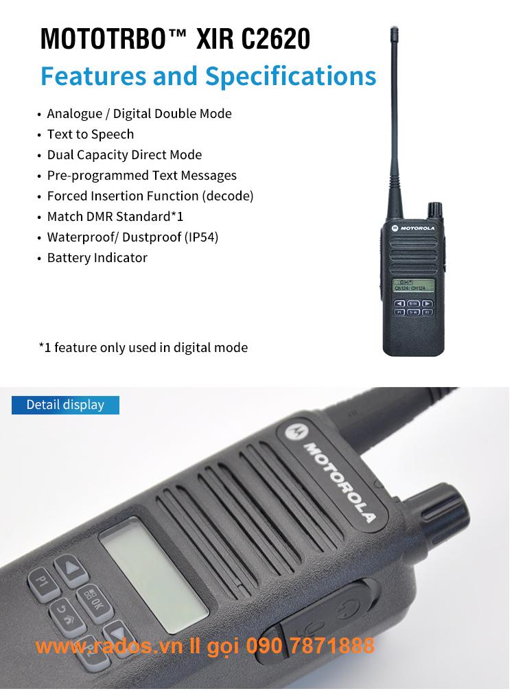 Motorola XiR C2620 UHF