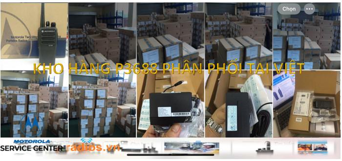 Bộ đàm chính hãng Motorola XiR P3688 UHF VHF có bán tại nhà phân phối Motorola