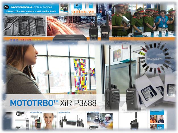 Máy bộ đàm Motorola XiR P3688 - NHÀ PHÂN PHỐI CHÍNH HÃNG ĐỘC QUYỀN TẠI VIỆT NAM
